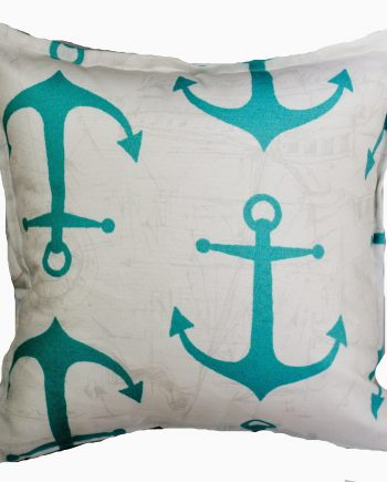 Aqua Anchors Indoor Outdoor Cushion Bungalow Living