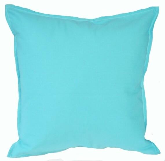 Aqua Solid Indoor Outdoor Cushion Bungalow Living