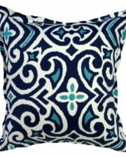 Baja Blue Indoor Outdoor Cushion Bungalow Living
