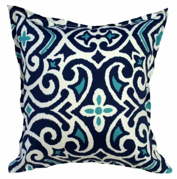 Baja Blue Indoor Outdoor Cushion Bungalow Living