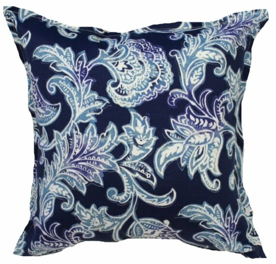 Bali Blue Indoor Outdoor Cushion Bungalow Living