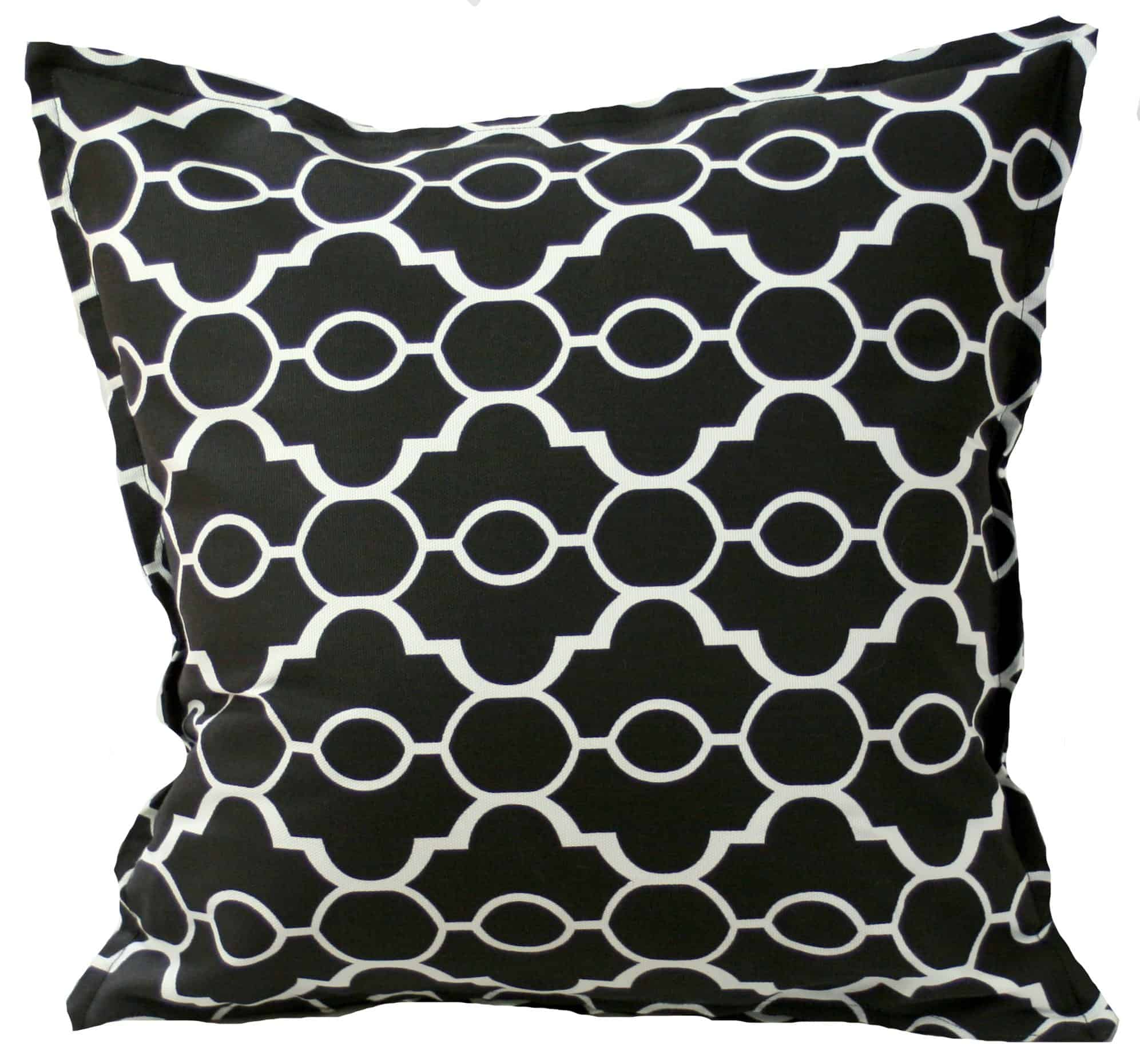 Black and White Lattice Indoor Outdoor Cushion Cover