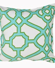 Aqua Fretwork Indoor Outdoor Cushion Bungalow Living