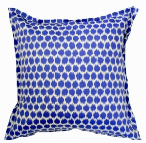 Blue Ikat Spot Indoor Outdoor Cushion Bungalow Living