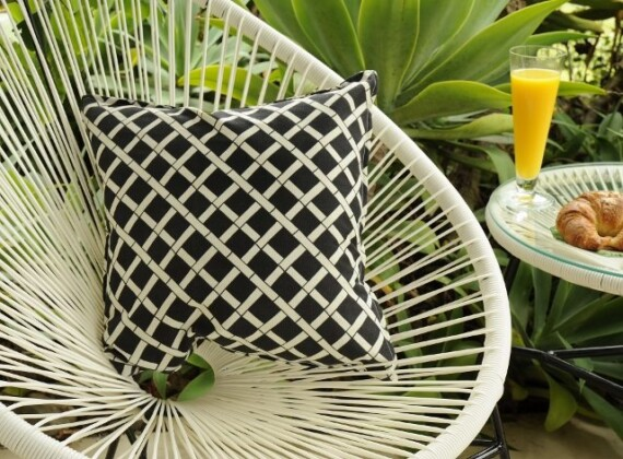 Black Bamboo Indoor Outdoor Cushion Bungalow Living