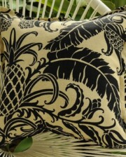 Pineapple Black Indoor Outdoor Cushion Bungalow Living