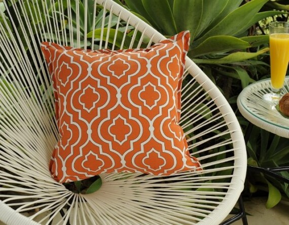 Alhambra Orange Indoor Outdoor Cushion Bungalow Living