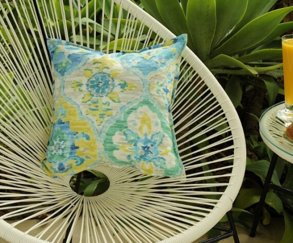 Aqua Arabia Indoor Outdoor Cushion Bungalow Living
