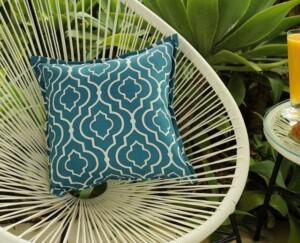 Aqua Tiles Indoor Outdoor Cushion Bungalow Living