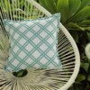 Aqua Bamboo Indoor Outdoor Cushion Bungalow Living