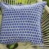 Blue Ikat Spot Indoor Outdoor Cushion Bungalow Living