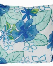 Hibiscus Blue Indoor Outdoor Cushion Bungalow Living