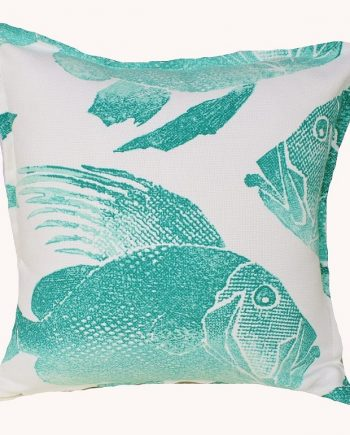 Aqua Batik Fish Indoor Outdoor Cushion Bungalow Living