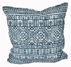 Indigo Batik Indoor Outdoor Cushion Bungalow Living