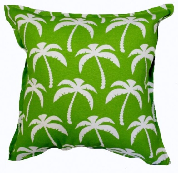 Palm Trees Green Indoor Outdoor Cushion Bungalow Living