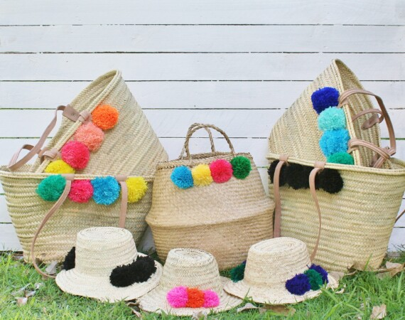 Pom Pom Belly Basket – Bungalow Living