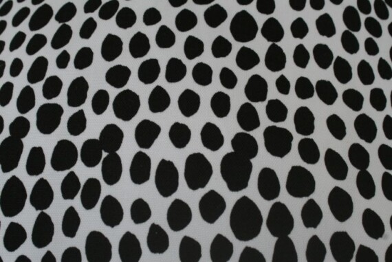 Black & White Dalmation Spot Outdoor Cushion Bungalow Living 1