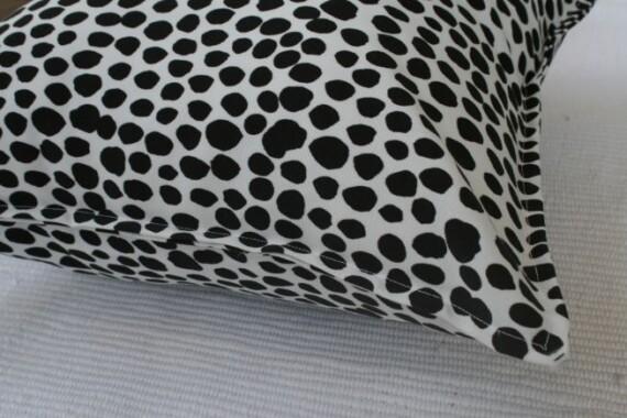 Black & White Dalmation Spot Outdoor Cushion Bungalow Living 2