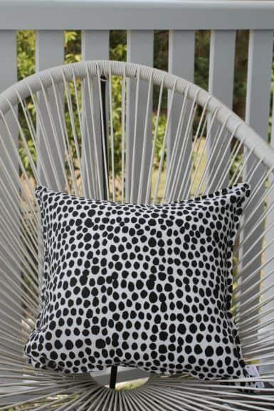 Black & White Dalmation Spot Outdoor Cushion Bungalow Living 4