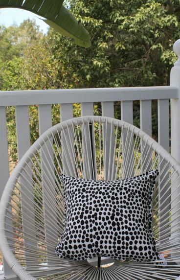 Black & White Dalmation Spot Outdoor Cushion Bungalow Living 5