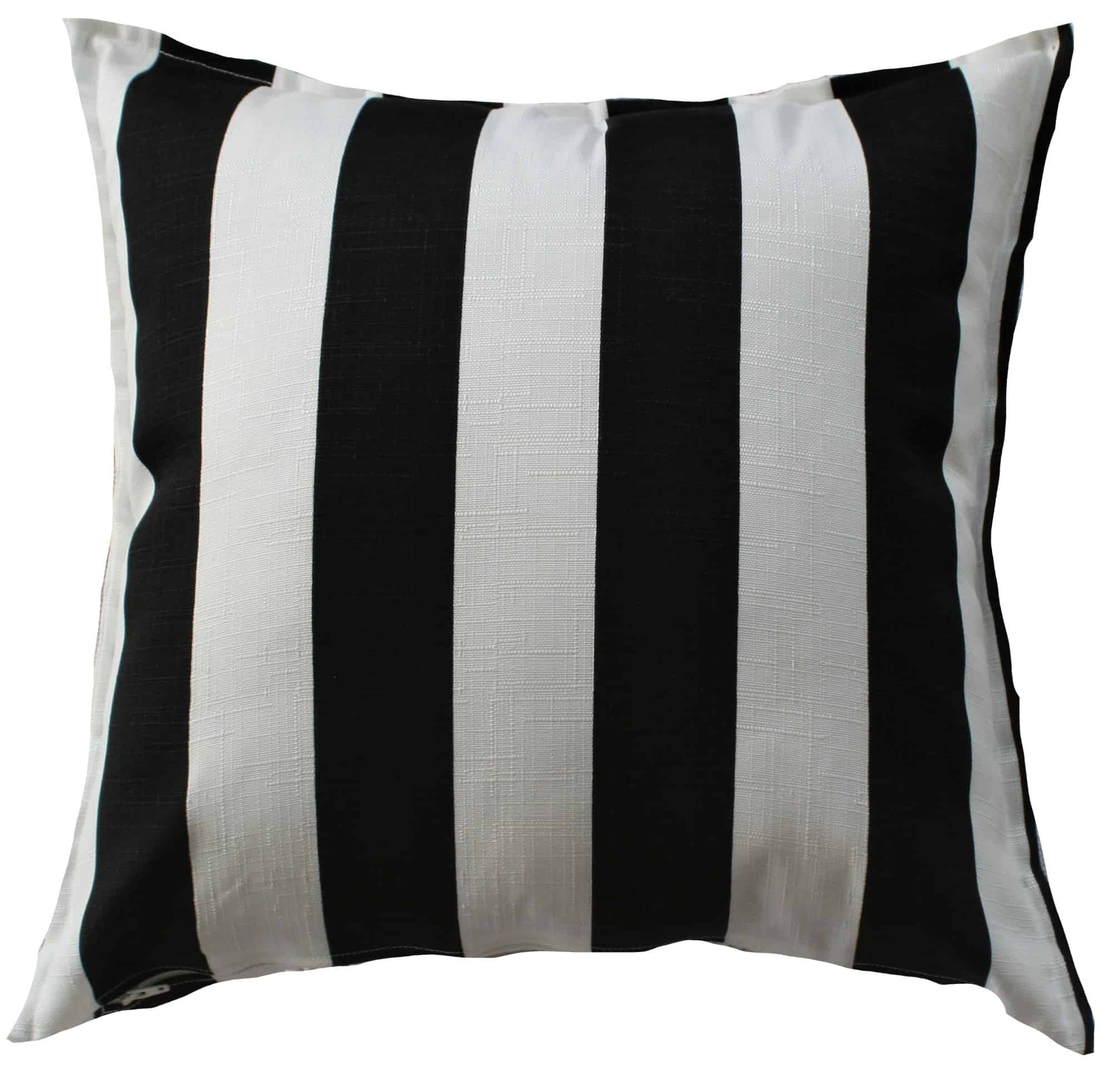 Black And White Stripe Indoor Outdoor Cushion Cover