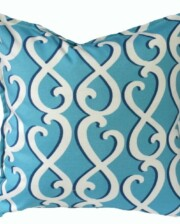 Blue Swirls Indoor Outdoor Cushion Bungalow Living