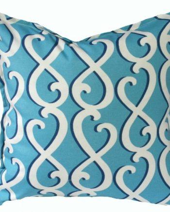 Blue Swirls Indoor Outdoor Cushion Bungalow Living
