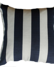 Blue and White Stripe Outdoor Indoor Cushion Bungalow Living