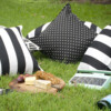 Bungalow Living Black & White Outdoor Cushions Styling Pic 3