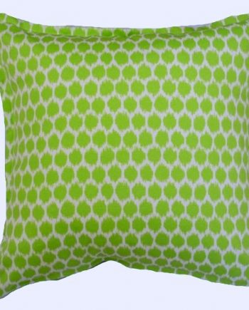Green Ikat Spot Indoor Outdoor Cushion Bungalow Living