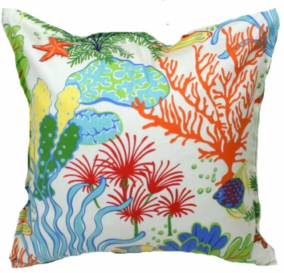 Coral Reef Indoor Outdoor Cushion Bungalow Living