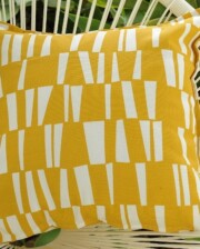 Yellow Stix Outdoor Indoor Cushion