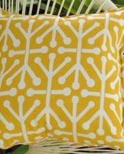 Fifties Yellow Tribal Indoor Outdoor Cushion Bungalow Living