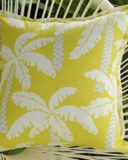 Lime Coconut Floral Indoor Outdoor Cushion Bungalow Living