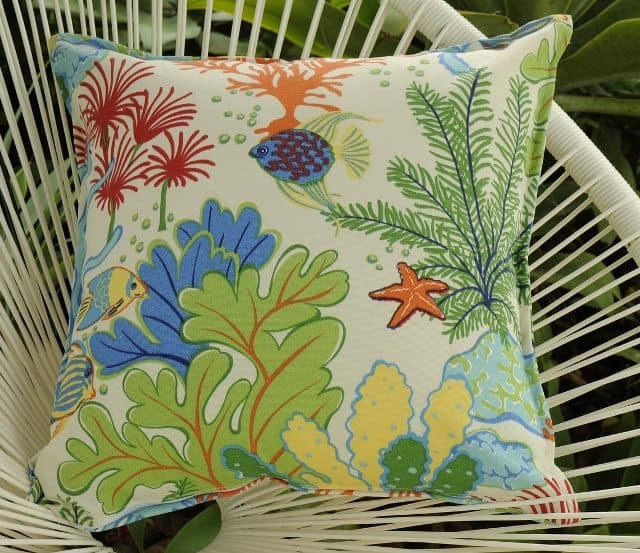 es clasp outdoor pillow products nautical pillows s luxuries coral frogs sunbrella frog