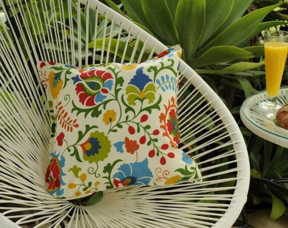 Sultan Floral Indoor Outdoor Cushion Bungalow Living