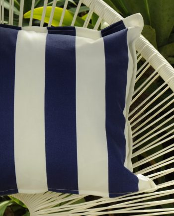 Blue and White Stripe Indoor Outdoor Cushion Bungalow Living