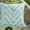 Tie Dye Aqua Outdoor Indoor Cushion Bungalow Living