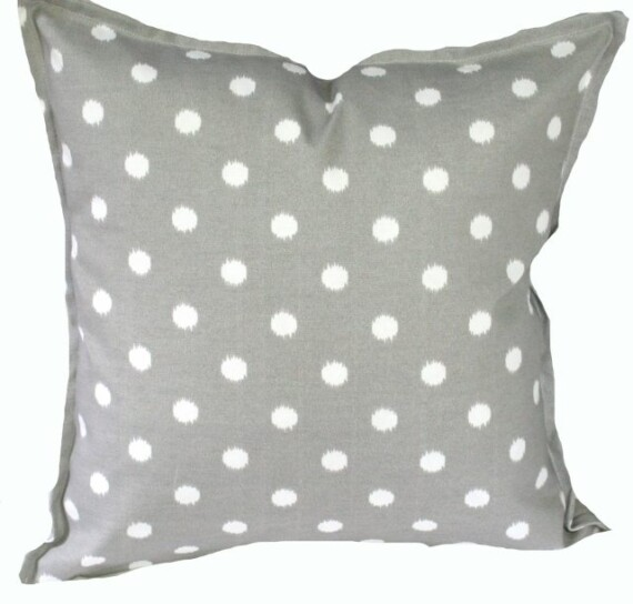 Grey Ikat Spot Indoor Outdoor Cushion Bungalow Living