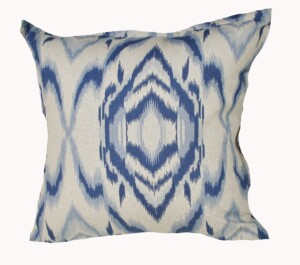 Indigo Waves Indoor Cushion