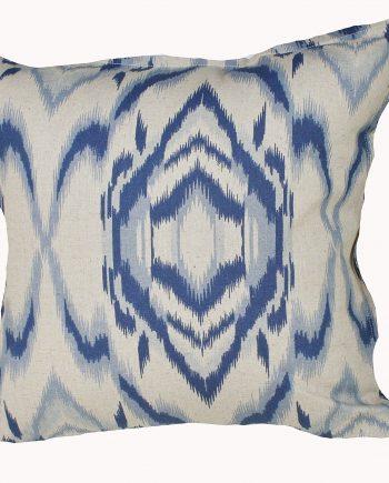 Indigo Waves Indoor Cushion