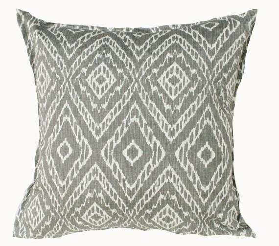 Greige Tribal Indoor Outdoor Cushion Bungalow Living