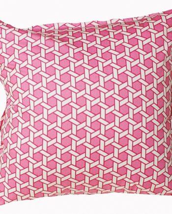 Pink Fretwork Cushion