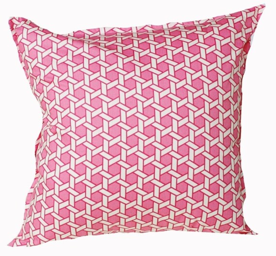 Pink Fretwork Cushion