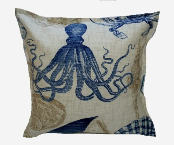 Ocean Reef Blue Indoor Outdoor Cushion Bungalow Living