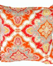 Orange Paisley Indoor Outdoor Cushion Bungalow Living