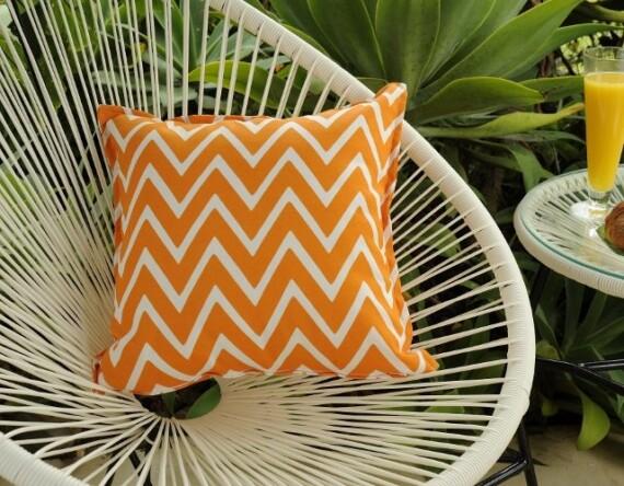 Orange Wizz Indoor Outdoor Cushion Bungalow Living