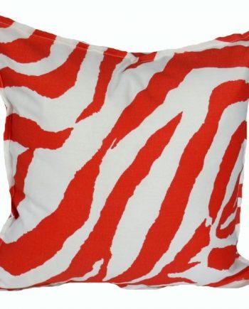 Orange Zebra Indoor Outdoor Cushion Bungalow Living