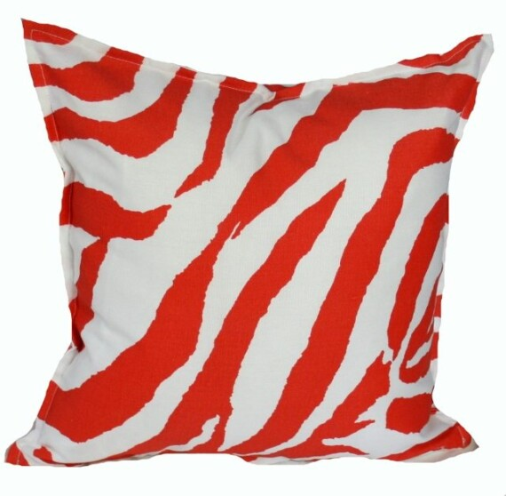 Orange Zebra Indoor Outdoor Cushion Bungalow Living
