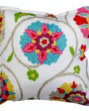 Pink Floral Ikat Indoor Outdoor Cushion Bungalow Living